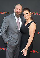 NORTH HOLLYWOOD, CA - JUNE 6: Paul Michael Levesque, aka Triple H, Stephanie McMahon-Levesque,  WWE's First-Ever Emmy &quot;For Your Consideration&quot; Event at The Saban Media Center in North Hollywood, California on June 6, 2018. <br /> CAP/MPIFS<br /> &copy;MPIFS/Capital Pictures