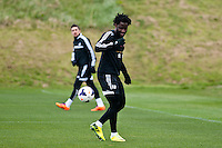 Thursday 20 March 2014<br /> Pictured:<br /> Re: Swansea City Training at their Fairwood training facility, Swansea, Wales,UK