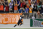 29 May 2012: Carolina's Brian Shriver celebrates scoring the game-winning goal. The Carolina RailHawks (NASL) defeated the Los Angeles Galaxy (MLS) 2-1 at WakeMed Soccer Stadium in Cary, NC in a 2012 Lamar Hunt U.S. Open Cup third round game.