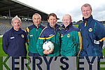 Kerry Senior Football Team Management Commitee pictured at Fitzgerald Stadium, From Left: Ger O'Keeffe, Donie Buckley, Jack O'Connor, Manager, Alan O'Sullivan and Diarmuid Murphy.