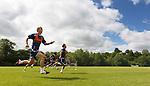 Jeroen Tesselaar and James Dayton sprinting for the line as Kilmarnock return for pre-season training