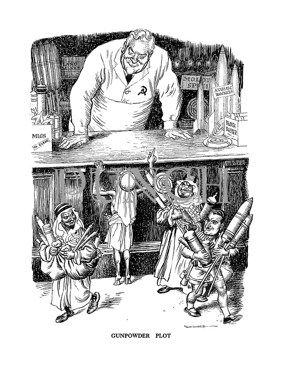 Gunpowder Plot (a boy Nasser and other Arab children buy weapons at the Soviet toy shop)