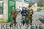 Presentation Secondary School  Proclamation Day Student Andreea Gergely was give a Military Escort by Members of the Irish Defence Forces Lieutenant Damien Ginty,  and  Sergeant David Locke on Tuesday