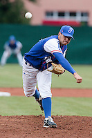 17 August 2010: Starting pitcher Joris Navarro of Team France pitches against Czech Republic during the Czech Republic 4-3 win over France, at the 2010 European Championship, under 21, in Brno, Czech Republic.