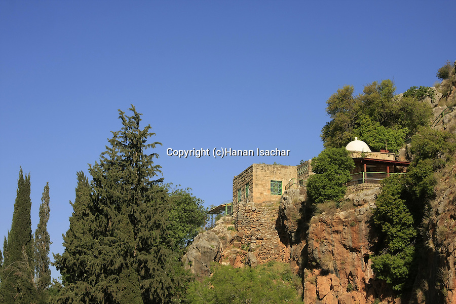 Golan Heights, the holy place of El-Khader one of the five supreme prophets for the Druze overlooking Caesarea Philippi