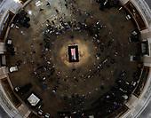 The late U.S. Sen. John McCain, R-Ariz., lies in state in the U.S. Capitol Rotunda Friday, Aug. 31, 2018, in Washington. <br /> Credit: Morry Gash / Pool via CNP