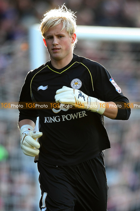 Kasper Schmeichel (Leicester City)- Crystal Palace vs Leicester City - nPower Championship Football at Selhurst Park Stadium, London - 02/01/12 - MANDATORY CREDIT: George Phillipou/TGSPHOTO - Self billing applies where appropriate - 0845 094 6026 - contact@tgsphoto.co.uk - NO UNPAID USE.