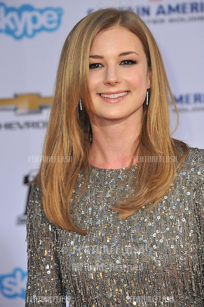 Emily VanCamp at the world premiere of her movie &quot;Captain America: The Winter Soldier&quot; at the El Capitan Theatre, Hollywood.<br /> March 13, 2014  Los Angeles, CA<br /> Picture: Paul Smith / Featureflash