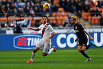 Davide Astori, Rodrigo Palacio in action during the Serie A football match Inter Milan vs Cagliari at Milan, on February 23, 2014.  <br /> <br /> Pierre Teyssot