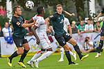 20.07.2018, Zillertalarena, Zell am Ziller, AUT, FSP, 1.FBL, SV Werder Bremen (GER) vs 1. FC Koeln (GER), im Bild<br /> <br /> Philipp Bargfrede (Werder Bremen #44)<br /> Niklas Moisander (Werder Bremen #18)<br /> Jhon Córdoba / Cordoba (Koeln #15)<br /> Foto © nordphoto / Kokenge