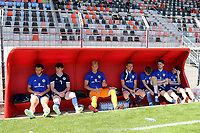 Scotland U21's substitutes look on during Turkey Under-21 vs Scotland Under-21, Tournoi Maurice Revello Football at Stade Francis Turcan on 9th June 2018