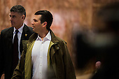 Donald Trump Junior arrives at Trump Tower in Manhattan, New York, U.S., on Thursday, Thursday, January 12, 2017. <br /> Credit: John Taggart / Pool via CNP