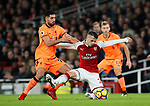 Arsenal's Granit Xhaka tussles with Liverpool's Emre Can during the premier league match at the Emirates Stadium, London. Picture date 22nd December 2017. Picture credit should read: David Klein/Sportimage
