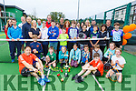 The large group enjoying the fun day at the Tralee Tennis Club on Sunday.