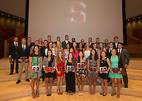 Stanford CA - May 12, 2014.  Stanford Athletic Board 2014 Awards Ceremony at Bing Concert Hall on the Stanford Campus.