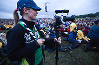 Lisa is doing some filming at the Opening Ceremony
