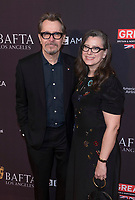 Gary Oldman and wife Gisele Schmidt attend the BAFTA Los Angeles Awards Season Tea Party at Hotel Four Seasons in Beverly Hills, California, USA, on 06 January 2018. Photo: Hubert Boesl - NO WIRE SERVICE - Photo: Hubert Boesl/dpa /MediaPunch ***FOR USA ONLY***