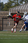 2013 March 02: Billy Gribbin #20 of the Maryland Terrapins during a game against the Duke Blue Devils at Koskinen Stadium in Durham, NC.  Maryland won 16-7.