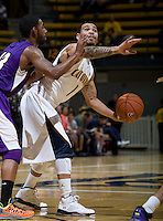 Justin Cobbs of California in action during the game against SFSU at Haas Paviliion in Berkeley, California on November 6th, 2012.  California defeated San Francisco State, 89-80.