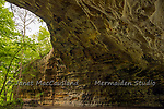 The Native American Amphitheater is a natural formation in the limestone hills of Illinois.