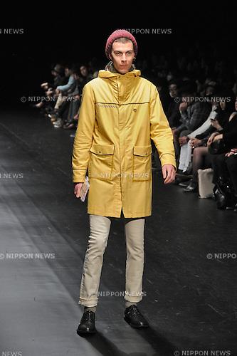 March, 19, 2013, Tokyo, Japan - FACTOTUM - Autumn/Winter 2013-14 - Tokyo Collection - Runway. (Photo by Kjeld Duits/AFLO)