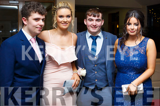 Attending the Gaelcholáiste Chiarrai Debs in the Ballyroe Heights Hotel on Tuesday night last, l-r,  Neil O'Seanachain (Castleisland), Una Ni Bhrosnachain (Castleisland), Kevin Lenihan (Ballymac) and Shauna Ni Mhuircheartaigh (Castleisland).