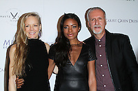 "WEST HOLLYWOOD, CA, USA - FEBRUARY 27: Suzy Amis Cameron, Naomie Harris, James Cameron at the 5th Anniversary Celebration Of Suzy Amis Cameron's Ecofashion Campaign ""Red Carpet Green Dress"" held at Palihouse on February 27, 2014 in West Hollywood, California, United States. (Photo by David Acosta/Celebrity Monitor)"
