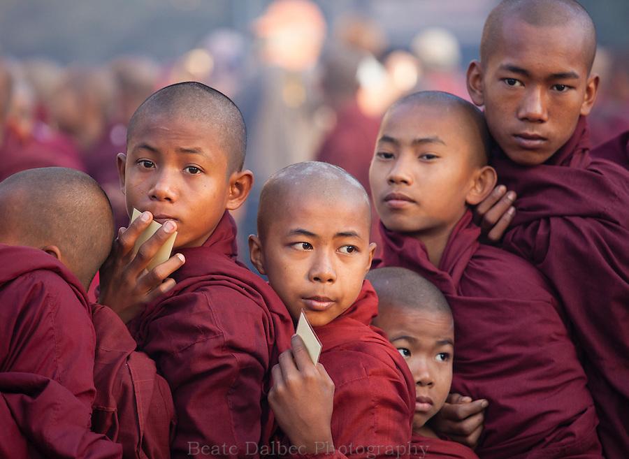 Monks at the Ananda pagoda festival, Bagan, Myanmar