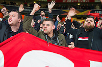 Rennes fans during the UEFA Europa League match between Arsenal and Rennes at the Emirates Stadium, London, England on 14 March 2019. Photo by Andrew Aleksiejczuk / PRiME Media Images.