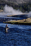 Angler on the Firehole River in Yellowstone, MT