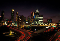 skyline, Atlanta, GA, Georgia, Skyline of downtown Atlanta at night.