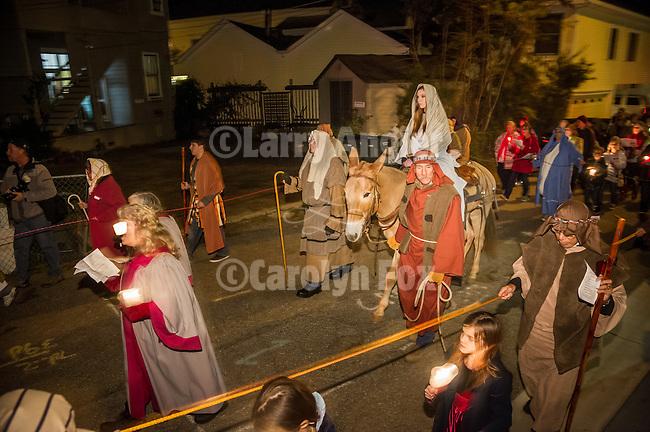 Procession of Las Posadas, Sutter Creek, Calif
