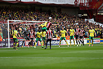Cameron Jerome of Norwich City in action with Jack O'Connell of Sheffield Utd during the Championship match at Bramall Lane Stadium, Sheffield. Picture date 16th September 2017. Picture credit should read: Jamie Tyerman/Sportimage
