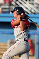 Lowell Spinners third baseman David Renfroe (26) during a game vs. the Batavia Muckdogs at Dwyer Stadium in Batavia, New York July 14, 2010.   Batavia defeated Lowell 12-2.  Photo By Mike Janes/Four Seam Images
