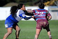 Action from the Wellington Women's Rebecca Liua'ana Trophy club rugby match between Avalon She-Wolves and Northern United at Fraser Park in Wellington, New Zealand on Saturday, 26 May 2018. Photo: Dave Lintott / lintottphoto.co.nz