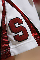 STANFORD, CA - FEBRUARY 1:  A photo of the Block S on a uniform of the Stanford Cardinal during Stanford's 68-51 win over the UCLA Bruins on February 1, 2009 at Maples Pavilion in Stanford, California.