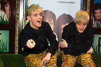 NO FEE PICTURES.1/5/12 Jedward at the opening night of the world premiere of Fiona Looney's new play Greener at the Gaiety Theatre, Dublin. Picture:Arthur Carron/Collins