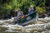 Fishermen & Women floating the Upper Colorado River fishing between Rancho Del Rio and State Bridge on July 6, 2015.