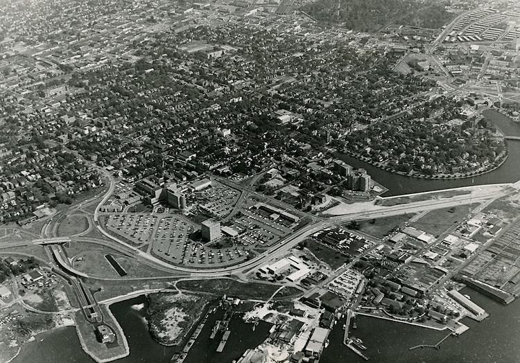 1966 October 14..Redevelopment.Atlantic City (R-1)..Aerial view of Medical center campus..Sam McKay.NEG#.NRHA#..