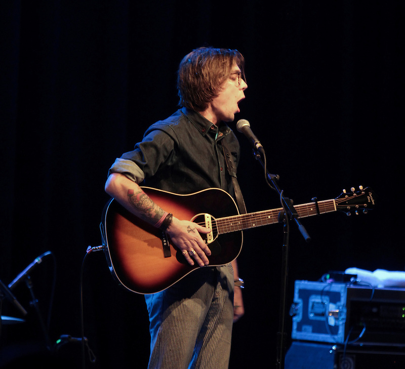 Justin Townes Earl performs at the Aladdin theater in Portland as part of the Music Festival North West 2013. .