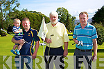 Joey Blake, Jamie Blake, Roger Guttrie, Danny O'Leary at the Tralee Pitch and putt Captains Prize weekend on Saturday