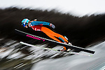 Spela Rogelj of Slovenia jumps during the Women's Normal Hill Individual training session of the 2014 Sochi Olympic Winter Games at Russki Gorki Ski Juming Center on February 9, 2014 in Sochi, Russia. Photo by Victor Fraile / Power Sport Images