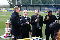 The BBC broadcast Football Focus ahead of  AFC Wimbledon vs Millwall, Emirates FA Cup Football at the Cherry Red Records Stadium on 16th February 2019