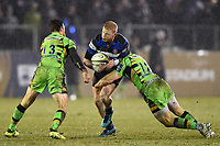 Tom Homer of Bath Rugby takes on the Northampton Saints defence. Anglo-Welsh Cup Semi Final, between Bath Rugby and Northampton Saints on March 9, 2018 at the Recreation Ground in Bath, England. Photo by: Patrick Khachfe / Onside Images