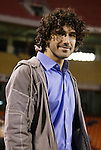 16 October 2004: Ethan Zohn of Survivor fame works as a sideline announcer for the Galaxy. The Kansas City Wizards defeated the Los Angeles Galaxy 1-0 at Arrowhead Stadium in Kansas City, MO in a regular season Major League Soccer game..