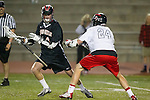 Torrance, CA 05/08/13 - Ollis Levitt (Harvard Westlake #14) and Augie O'Hern (Palos Verdes #24) in action during the Harvard Westlake vs Palos Verdes Los Angeles area Lacrosse Championship game.  Harvard Westlake defeated Palos Verdes 9-7.