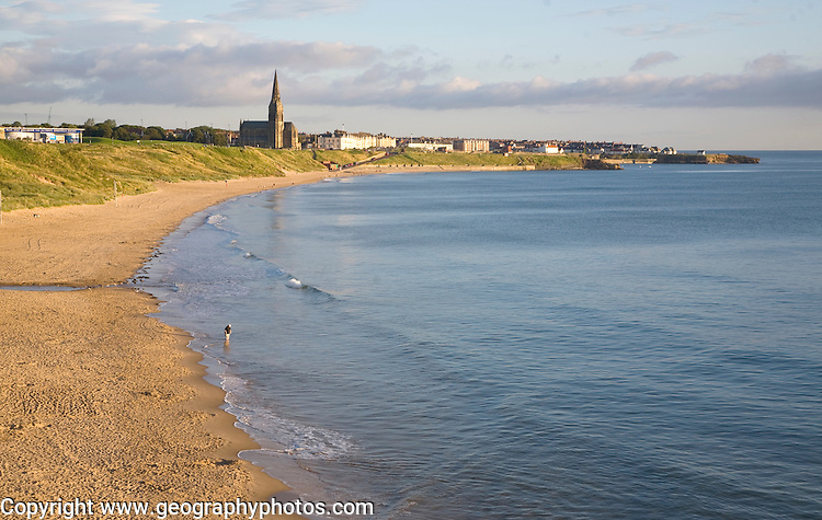 Longsands beach between Tynemouth and Cullercoats, Northumberland, England