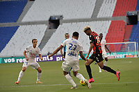 4th July 2020; Lyon, France; French League 1 friendly due to the Covid-19 pandemic forced league ending;  Kenny Tete (lyon) takes on Ihsan Sacko (nice)