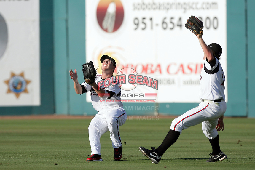 Daniel Robertson of the Lake Elsinore Storm during game against the Bakersfield Blaze at The Diamond in Lake Elsinore,California on July 25, 2010. Photo by Larry Goren/Four Seam Images