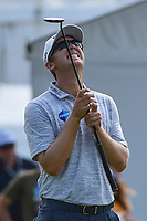 Seamus Power (IRL) reacts to barely missing his birdie putt on 9 during round 1 of the 2019 Charles Schwab Challenge, Colonial Country Club, Ft. Worth, Texas,  USA. 5/23/2019.<br /> Picture: Golffile | Ken Murray<br /> <br /> All photo usage must carry mandatory copyright credit (© Golffile | Ken Murray)